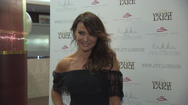 Lizzie Cundy at Nikki for JYYLondon Launch Party at Sanctum Soho on September 14 2015 in London England