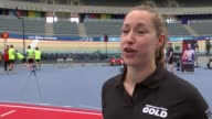 Lizzie Yarnold and Anthony Joshua attend launch of 'Discover Your Gold' campaign to find young talent ENGLAND London Olympic Park Lee Valley Velopark...