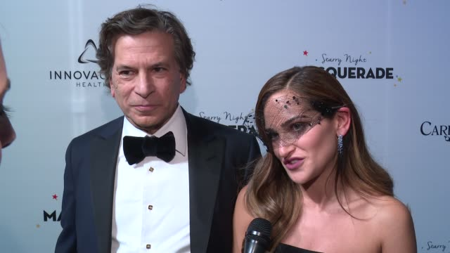 INTERVIEW – Lizzy Straus and Daniel Straus of Care One at Daniel E Straus CareOne Starry Night Masquerade For Puerto Rico at Skylight Clarkson Sq on...