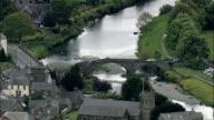 Llanrwst  - Aerial View - Wales, County Borough of Conwy, Llanrwst, United Kingdom