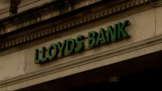 London EXT Various shots Lloyds Bank building on Lloyd's Avenue including shot of cashpoint machine