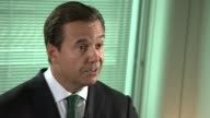 Lloyds Bank returns fully to private hands Interview with Antonio HortaOsorio ENGLAND London INT Antonio HortaOsorio interview SOT