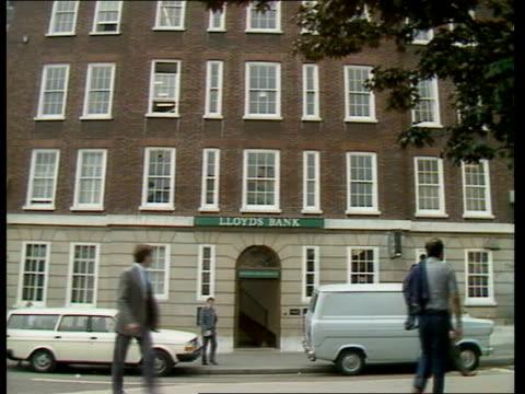 London GV Hatton Garden ZOOM Lloyds Bank LMS 'Lloyds Bank' MS Bank MS 'Holborn Circus Branch' 'Following Lloyds contents' Drawing of Bank basement Ex...