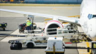 Loading cargo and unload from plane for air freight logistic