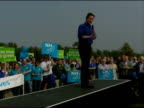 David Cameron speech to Swindon political rally David Cameron MP speech SOT Rumour that this week Tony Blair will resign / Things will get worse...