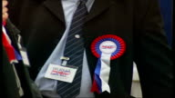 Conservatives INT Local election votes being counted Sign 'Tilbury Riverside Thurrock Park Ward' Andrew MacKinley interview SOT Adjudicator reading...