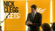 Clegg meets voters in Bradford Clegg responses SOT We have transformed the state pension by restoring the earnings link / talks of other payments to...