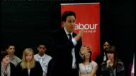 Ed Miliband answers questions in Gravesham Miliband answering questions SOT On cost of education / university tuition fees / withdrawl of education...