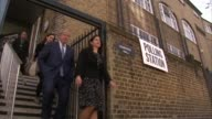 Local elections / London Mayoral election polling day / Barnet issues ENGLAND London Boris Johnson MP from polling station with his wife Marina...