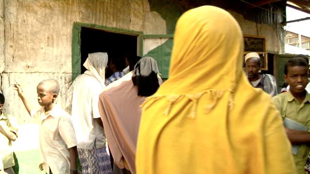 Locals in street on July 31 2011 in Dadaab village Kenya