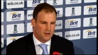Location unknown INT Andrew Strauss press conference SOT Don't want to get caught in a war of words with Australian team