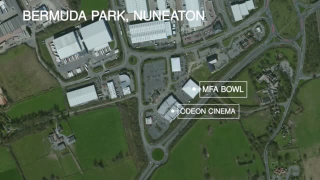 Locator map of Bermuda Park Nuneaton which the public has been warned to stay away from as police deal with an 'ongoing incident'