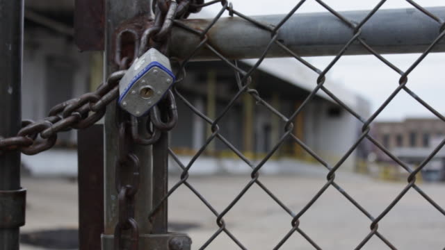Locked Gate in front of Closed Factory on February 19 2012 in Washington DC