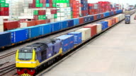 Logistics operation in railroad container yard