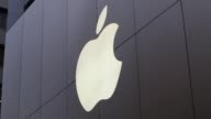 A logo of Apple Inc is seen at its Ginza store ahead of the launch of the company's new iPhone 6 and iPhone 6 Plus in Tokyo Japan Apple Inc iPad...