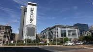 A logo sits on display outside the offices of Media24 Ltd where Naspers Ltd has its headquarters in Cape Town South Africa on Thursday May 7 2015...