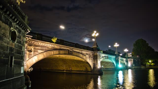 Zeitraffer Lombardsbrücke ab Hamburg, Deutschland