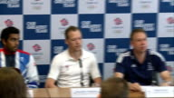 Badminton team GB announced ENGLAND London Stock Exchange PHOTOGRAPHY*** General views of Tean GB press conference including woman giving...
