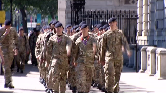 Boris Johnson and Jeremy Hunt attend Cobra meeting ENGLAND London Whitehall EXT Boris Johnson interview SOT / general view of troops marching along...