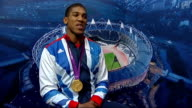 Boxing Interviews with medal winners Anthony Joshua interview continued SOT having rest at minute still an amateur at moment