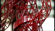 competition to run ArcelorMittal Orbit Tower 3132010 Scale model of ArcelorMittal Orbit tower in studio including viewing tower with figures of people
