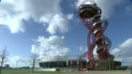 Doping retests reveal 23 drugs cheats T02021621 / General views of ArcelorMittal Orbit Tower with helter skelter slide on exterior
