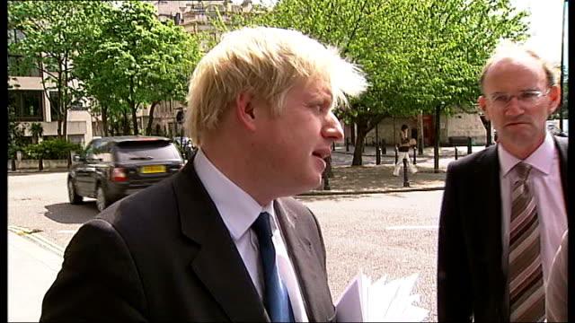 IOC inspect site of Olympic Stadium / Boris Johnson comments London City Hall EXT Boris Johnson MP along with others Boris Johnson MP speaking to...