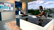 London 2012 Olympic Games legacy one year on Anthony Joshua ENGLAND London GIR INT Anthony Joshua LIVE studio iinterview SOT
