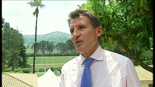 Olympic flame blown out at start of journey Lord Coe interview SOT This links ancient and modern Olympics / Now got millions of people in UK ready to...