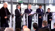 plans for giant sculpture unveiled press conference ENGLAND London THROUGHOUT** Boris Johnson press conference announcing Anish Kapoor and Cecil...