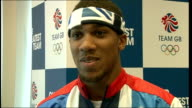 Profile on boxer Anthony Joshua ENGLAND Location Unknown INT Joshua interview SOT
