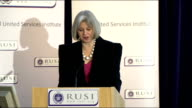 Theresa May speech at RUSI May speech SOT Our police service is admired and emulated around the world Our counterterrorism strategy is widely studied...