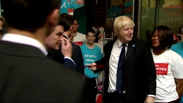 Boris Johnson opens 'London 2012 Shop' ENGLAND London St Pancras International Station INT Boris Johnson cuts ribbon to officially open London 2012...