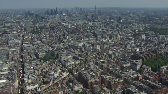 London Aerial: Oxford Street to River Thames