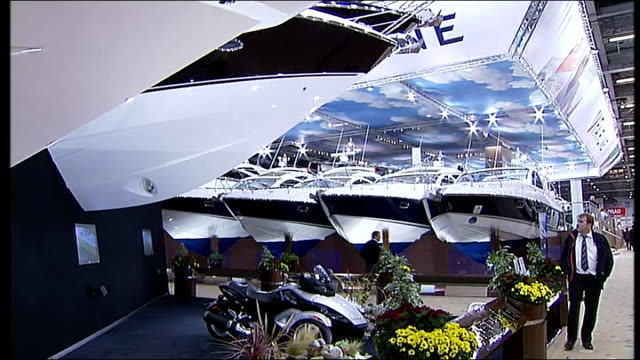 London Boat Show opens **Andrew Fisher interview overlaid SOT** Boats on display in exhibition