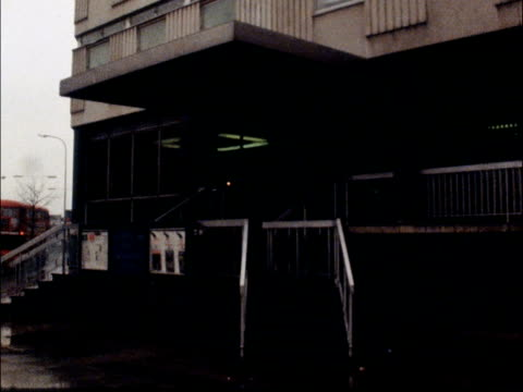 London bombings at Greenwich and Canvey Island flashback to 1978 bombings TX London Paddington Green Station EXT 'Police' sign on building wall PULL...