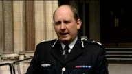 Emergency services reaction oustide court ENGLAND London EXT Assistant Commissioner Chris Allison statement SOT Today should think of the friends and...