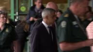 Alleged intelligence failings ENGLAND London EXT London Mayor Sadiq Khan along to stand with staff at London Ambulance service
