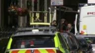 Daytime police activity near The Shard ENGLAND London London Bridge EXT Police activity in cordonedoff road near London Bridge and Borough Market /...