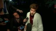 eyewitness Alex Martinez interview ENGLAND London London Bridge Alex Martinez speaking to reporters descibes Borough Market attack and how he hid in...