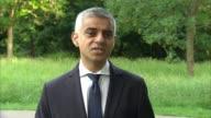Sadiq Khan interview ENGLAND London EXT Sadiq Khan interview SOT re London Bridge attack