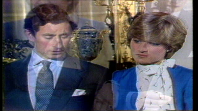 Buckingham Palace Prince Charles Princess Diana down steps into garden Princess Diana intvwd how she will cope with the pressure LIB GIBRALTAR Prince...