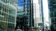 London Canary Wharf Upper Bank Street (4K/UHD to HD)
