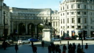 POV London Charing Cross With Equestrian Statue Of Charles I