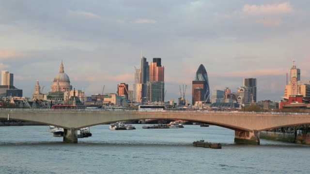 London Cityscape at Sunset, United Kingdom