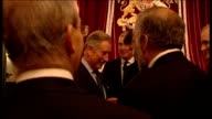 Prince Charles hosts reception Prince Andrew talking with guests/ Prince Charles talking with unidentified guests/ Prince Andrew chatting with guests