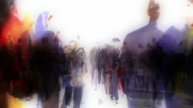 DENSE CROWD: london, december - LOOP