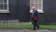 London Downing Street EXT Greg Clark MP arrival / Liz Truss MP arrival by car / Theresa Villiers MP arrival closely followed by Anna Soubry MP /...