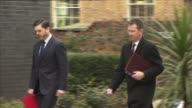 London Downing Street EXT Robert Halfon MP arriving at Number 10 / Theresa Villiers MP and Jeremy Hunt MP arriving / Oliver Letwin MP arriving /...