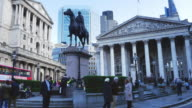 London Equestrian Statue Of The Duke Of Wellington And Royal Exchange